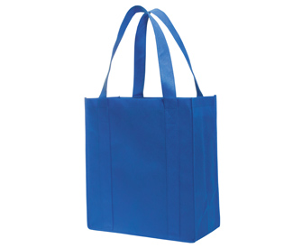 "Non-woven solid color grocery tote bags, 15 1/4""H x 14""H x 6 3/4""D"