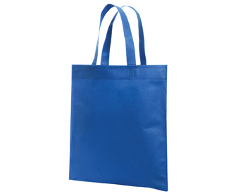 Non-woven solid color promotional tote bags, 15 1/4