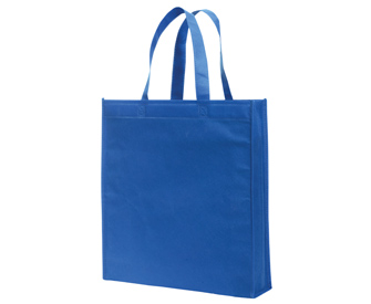 Non-woven solid color standard tote bags, 15 1/4H x ...