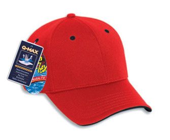 OTTO A-Flex stretchable polyester Q-Max cool mesh flipped edge visor solid color six panel low profile pro style caps