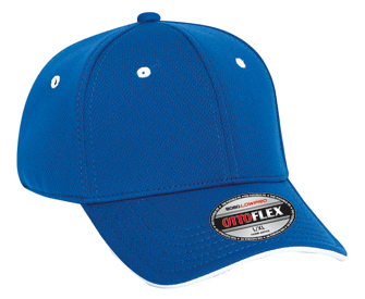 OTTO Flex Cool Comfort stretchable polyester cool mesh flipped edge visor solid color six panel low profile pro style caps
