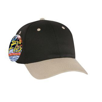 OTTO Flex stretchable deluxe brushed cotton twill solid and two tone color six panel low profile pro style caps