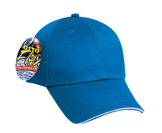 OTTO Flex stretchable deluxe cotton twill sandwich visor solid color six panel low profile pro style caps