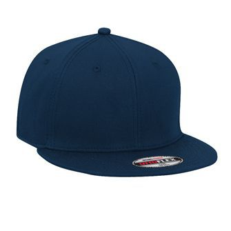 OTTO Flex stretchable superior cotton twill flat visor solid color six panel pro style caps