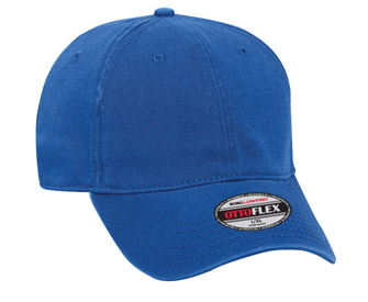 OTTO Flex stretchable superior garment washed cotton twill solid color six panel low profile pro style caps