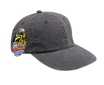 OTTO Flex stretchable washed pigment dyed cotton twill solid and two tone color six panel low profile pro style caps
