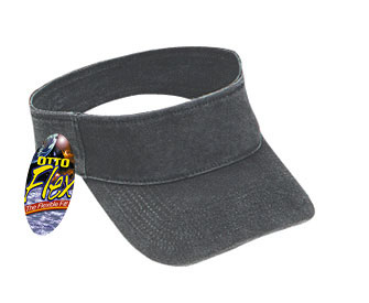 OTTO Flex stretchable washed pigment dyed cotton twill solid and two tone color sun visors