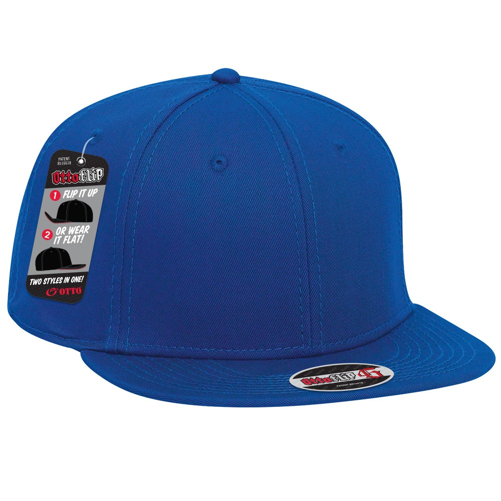 OttoFlip superior cotton twill flat to full flip visor snapback solid color six panel pro style caps