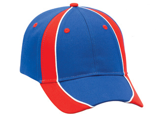Piping design brushed cotton twill two tone color six panel low profile pro style caps