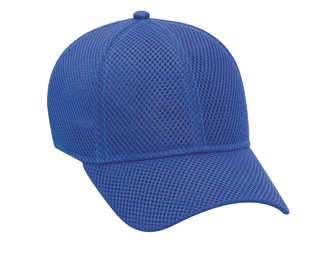 Polyester air mesh solid color six panel low profile ...
