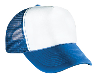 Polyester foam front solid and two tone color five panel ...