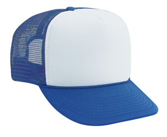 Polyester foam front two tone color five panel high ...