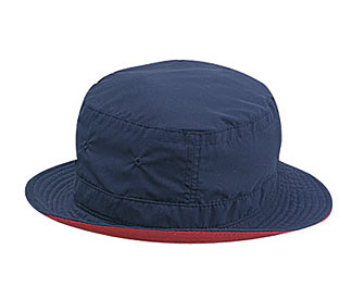 Polyester microfiber reversible two tone color six panel bucket hats