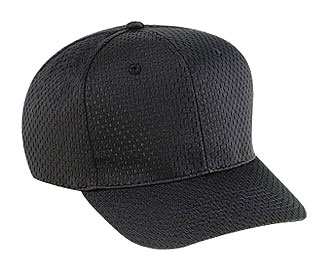 Polyester pro mesh gray undervisor solid color six panel ...