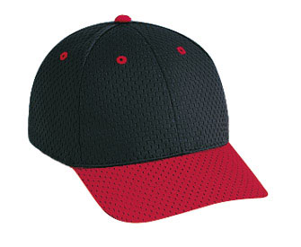 Polyester pro mesh gray undervisor solid and two tone color six panel low profile pro style caps