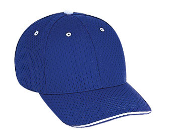 Polyester pro mesh sandwich visor solid and two tone color six panel low profile pro style caps