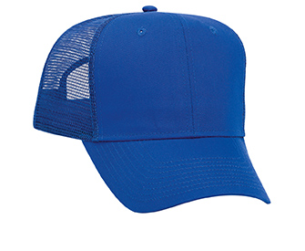 Promo cotton twill solid color six panel pro style mesh back caps