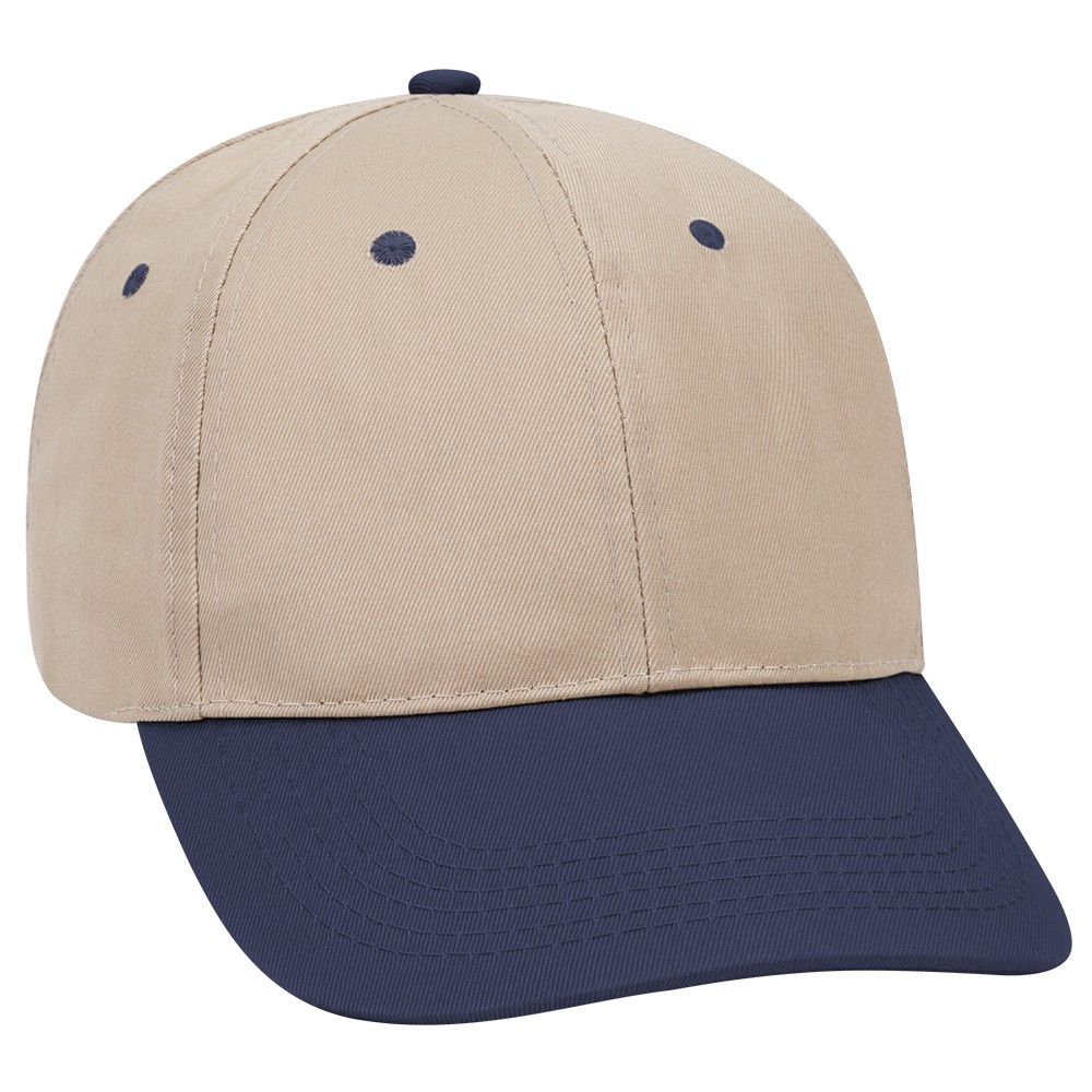 Promo cotton twill solid and two tone color six panel low profile pro style caps