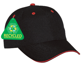Recycled canvas sandwich visor solid color six panel low profile pro style caps