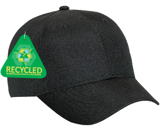 Recycled canvas solid color six panel low profile pro style caps