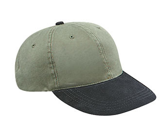 Suede visor washed pigment dyed bull denim crown two tone color six panel low profile pro style cap
