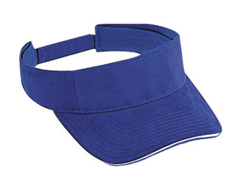Superior brushed cotton twill sandwich visor solid color ...