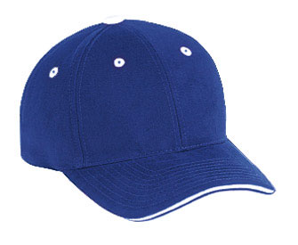 Superior brushed cotton twill sandwich visor solid and two tone color six panel low profile pro style caps
