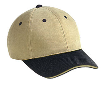 Superior brushed cotton twill sandwich visor solid and ...