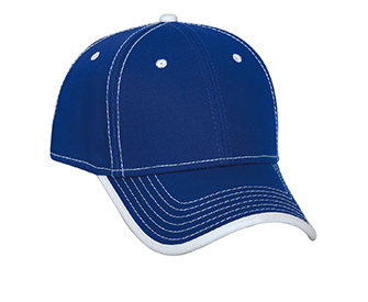 Superior cotton twill binding trim visor withcontrast stitching solid color six panel low profile pro style caps