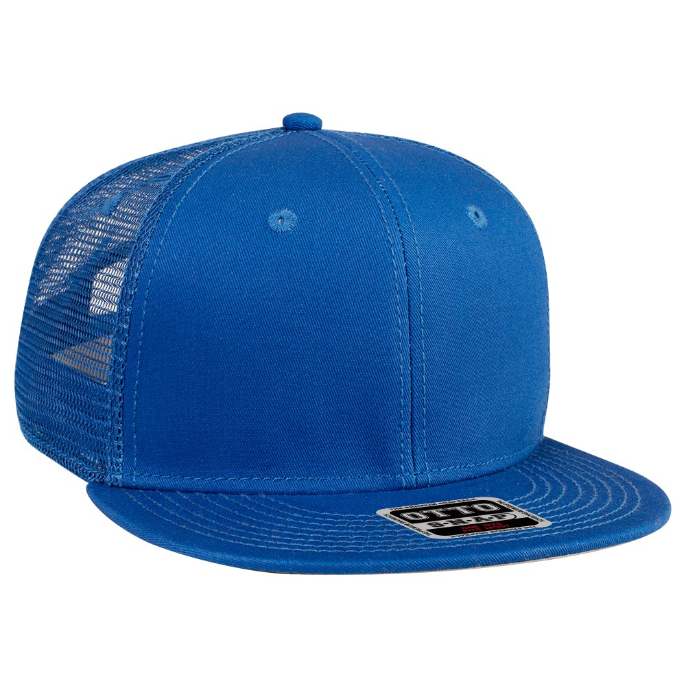 Superior cotton twill flat visor snapback solid and ...