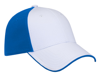 Superior cotton twill flipped edge visor two tone color six panel low profile pro style caps