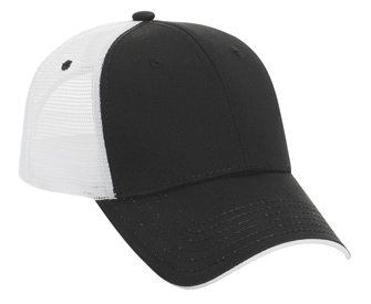 Superior cotton twill flipped edge visor two tone color six panel low profile pro style mesh back caps