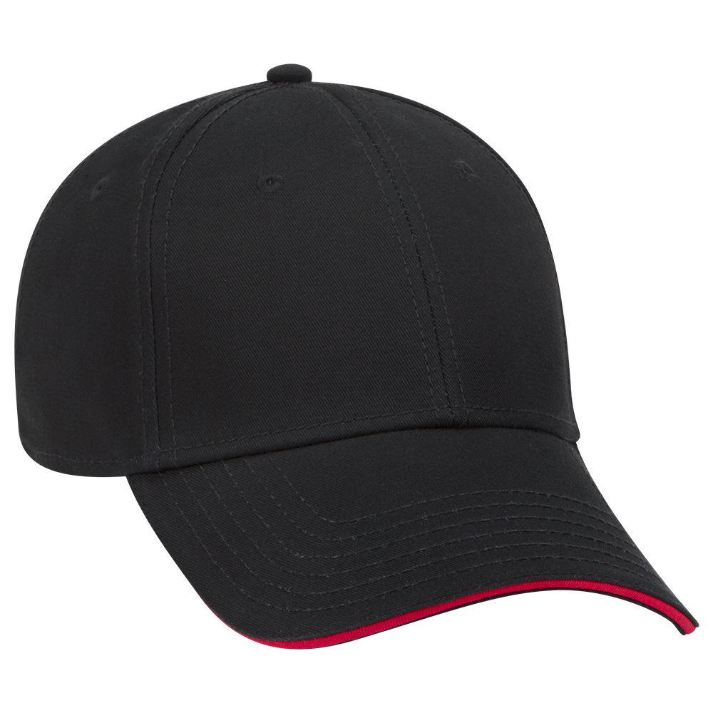 Superior cotton twill sandwich visor solid color six panel low profile pro style caps