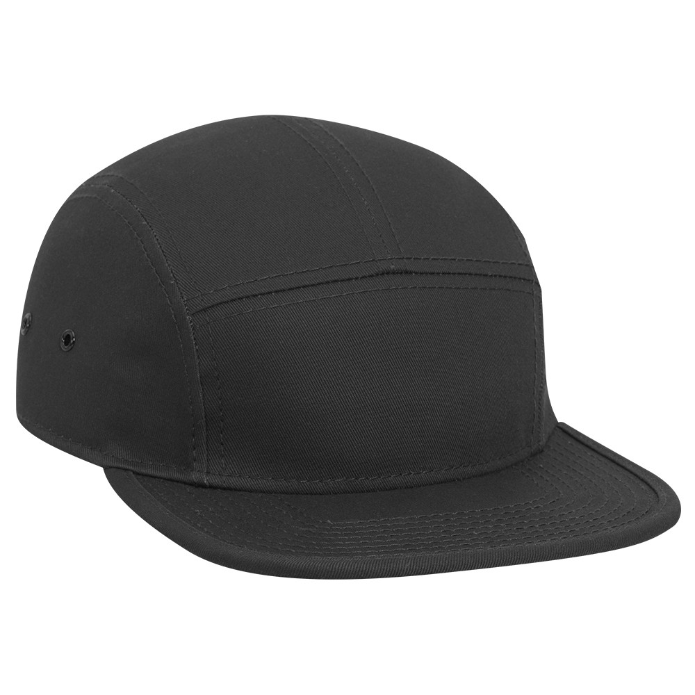 Superior cotton twill square flat visor with binding ...