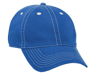Superior faded washed cotton twill solid color six panel low profile pro style cap
