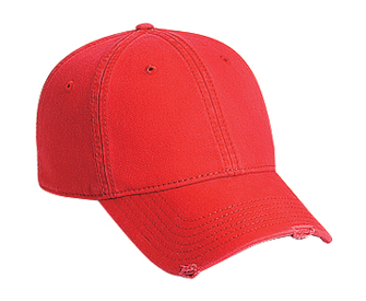Superior garment washed cotton twill distressed visor solid and two tone color six panel low profile pro style caps