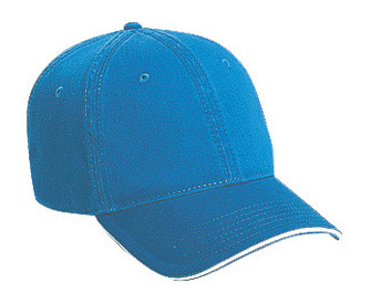 Superior garment washed cotton twill sandwich visor solid and two tone color six panel low profile pro style caps