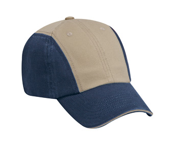 Superior garment washed cotton twill sandwich visor solid and two tone color six panel twelve panel low profile pro style caps