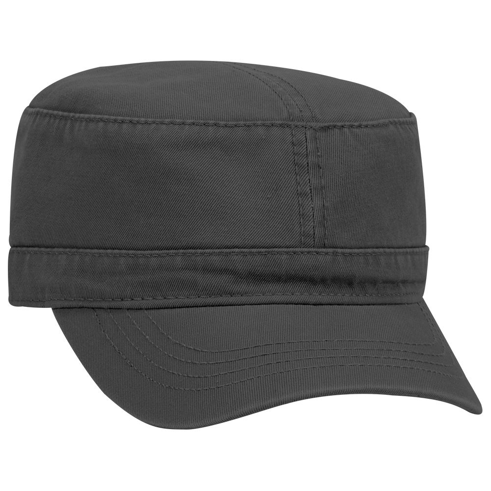 Superior garment washed cotton twill solid color military style caps