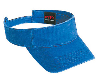 Superior garment washed cotton twill solid color sun visors