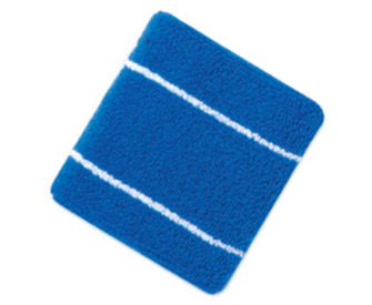 "Terry cloth two tone color wrist bands with stripes, 3"" W x 3"" L"