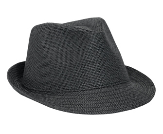 Twisted toyo fitted solid color six panel fedora hats