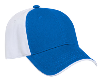 Ultra soft superior brushed cotton twill flipped edge visor two tone color six panel low profile pro style caps