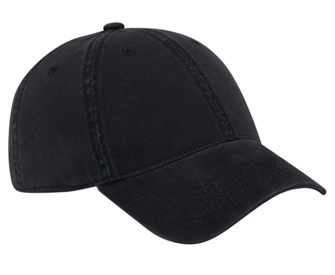 Ultra soft superior garment washed brushed cotton twill solid color six panel low profile pro style caps