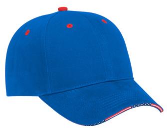 United States flag edge design sandwich visor brushed ...