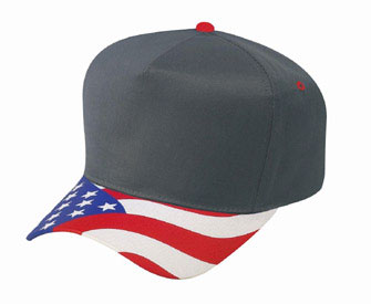United States flag visor cotton twill two tone color five panel low crown  golf style cap  3.63 - Headwear 531312257d66