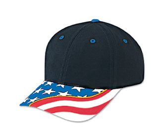 United States flag withyellow ribbon visor superior brushed cotton twill two tone color six panel low profile pro style caps