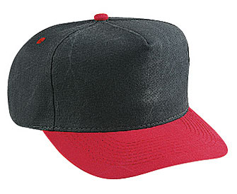Washed brushed heavy cotton canvas solid and two tone color five panel low crown golf style caps