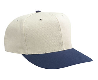 Washed bull denim solid and two tone color six panel pro style caps