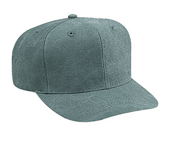Washed canvas solid color six panel pro style caps